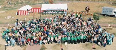 「児島湖花回廊」第1回植樹祭